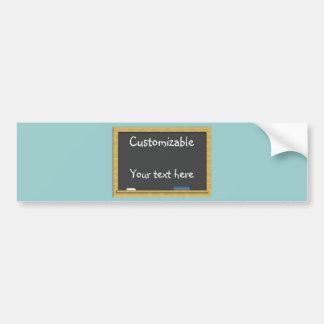 Blackboard Greeting - Customizable Bumper Stickers