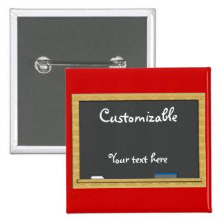 Blackboard Greeting - Customizable Pins