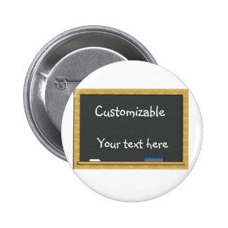 Blackboard Greeting - Customizable Pinback Buttons