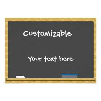Blackboard Greeting - Customizable Invitation