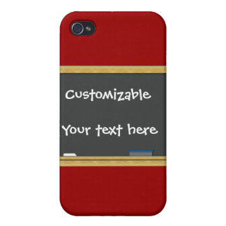 Blackboard Greeting - Customizable iPhone 4 Cover