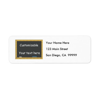 Blackboard Greeting - Customizable Return Address Label