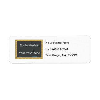 Blackboard Greeting - Customizable Return Address Label