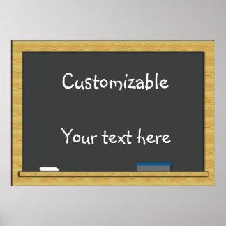 Blackboard Greeting - Customizable Poster