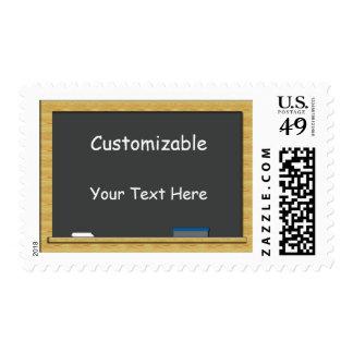 Blackboard Greeting - Customizable Stamp