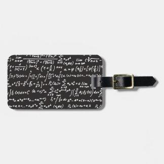 Blackboard Math Equations Bag Tag