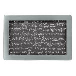 Blackboard Math Equations Belt Buckles