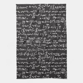 Blackboard Math Equations Hand Towels