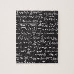 """Blackboard Math Equations Jigsaw Puzzle<br><div class=""""desc"""">Get your Geek on with this blackboard math equations design. Math is Radical!</div>"""