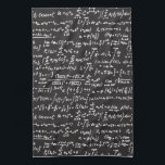 """Blackboard Math Equations Kitchen Towel<br><div class=""""desc"""">Get your Geek on with this blackboard math equations design. Math is Radical!</div>"""