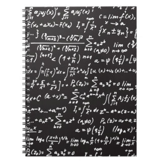Blackboard Math Equations Notebook