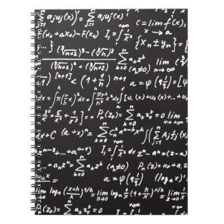 Blackboard Math Equations Notebook