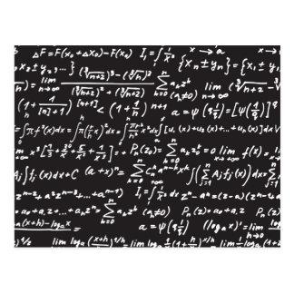 Blackboard Math Equations Postcard