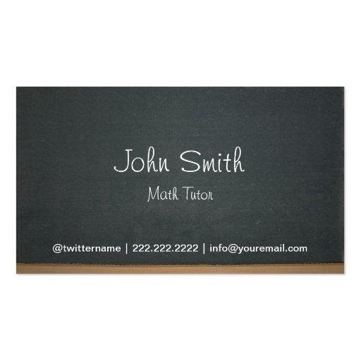 Blackboard Math Tutor Business Card