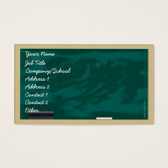 Blackboard Profile Card