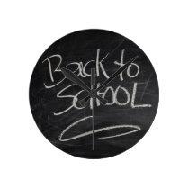 Blackboard Round Clock