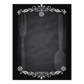 Blackboard Sketch Menu Food Fork Spoon