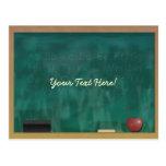 Blackboard Teacher Student Postcard