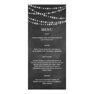 Blackboard Twinkle Lights Menu Customized Rack Card