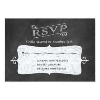 Blackboard Twinkle Lights RSVP 2 Card