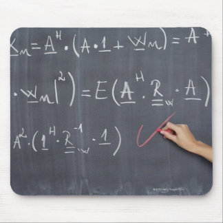 Blackboard with arithmetic's on it, close-up mouse pad