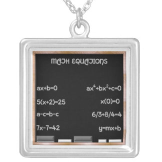 Blackboard with Math Equations Jewelry