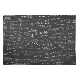 Blackboard With Math Formulas Cloth Placemat