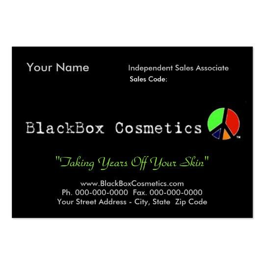 BlackBox Cosmetics, Independent Sales Associ... Large Business Card