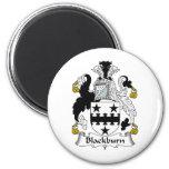 Blackburn Family Crest 2 Inch Round Magnet