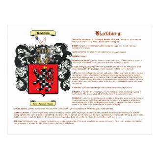 Blackburn (meaning) postcard