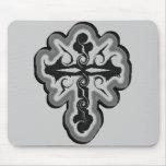BlackCross Mouse Pad