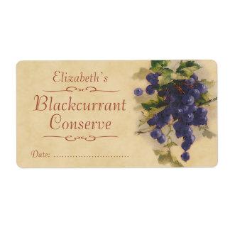 Blackcurrant Canning label