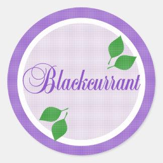 Blackcurrant Fruit Label Sticker