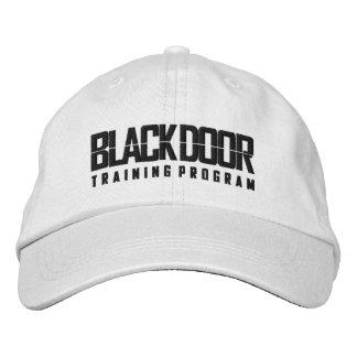 Blackdoor Training Program (white cap) Embroidered Baseball Cap