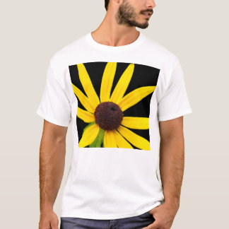 Blacked Eyed Susan on Black Background T-Shirt