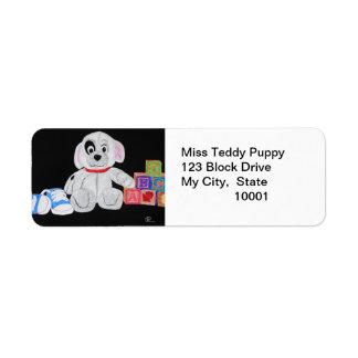 Blacked-eyed Teddy Label