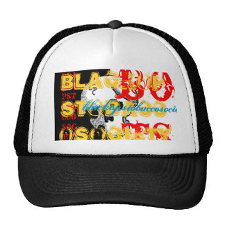 blacked out trucker hat