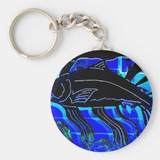 Blackened Salmon JPG Keychain