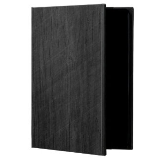 Blackened Wood Veneer Woodgrain iPad Air Cases