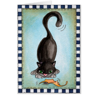 Blackest Cats - Greeting Card