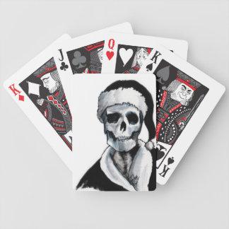 Blackest Ever Black Xmas Bicycle Playing Cards