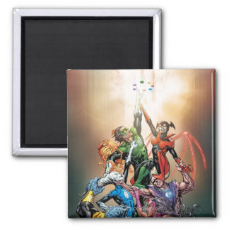Blackest Night Cover 2 Inch Square Magnet