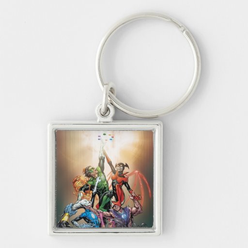 Blackest Night Cover Silver-Colored Square Keychain