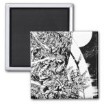 Blackest Night Group and Moon 2 2 Inch Square Magnet