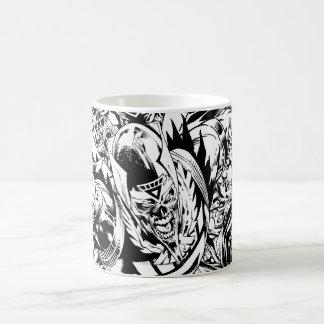 Blackest Night Group Painting - Black and White Classic White Coffee Mug