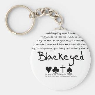 """Blackeyed """"Heart, Club, Odd Man Out, Spade"""" Chain Keychain"""