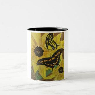blackeyed susan mug-watercolor Two-Tone coffee mug