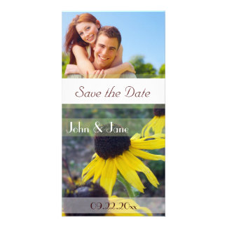 """Blackeyed Susans /photo  """"Save the Date"""" Personalized Photo Card"""