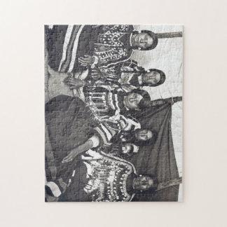 Blackfeet Indian Ladies Vintage Stereoview Puzzles