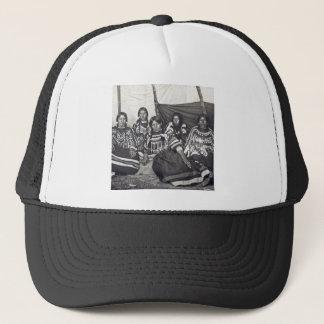 Blackfeet Indian Ladies Vintage Stereoview Trucker Hat